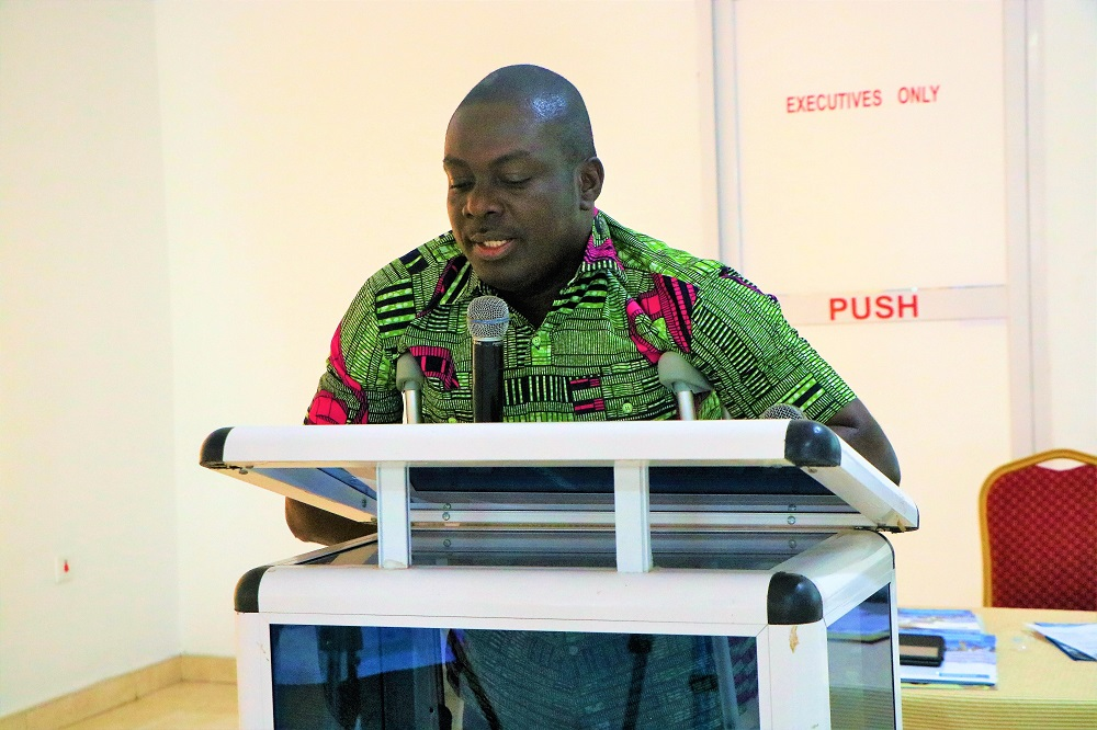 Mr. Francis Asong,STAR-Ghana steering committee and STAR Ghana Foundation governing council member, delivering the Public Lecture