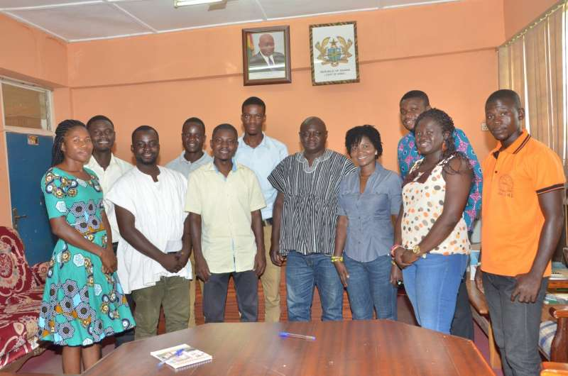Leadership of the Saboba Youth Parliament, YEfL and STAR-Ghana pay a courtesy call to the District Chief Executive of Saboba in the Northern Region of Ghana