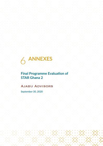 STAR Ghana 2: Evaluation Report_Annexes